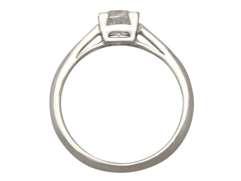 Contemporary 2000s 0.70 Carat Diamond and Platinum Solitaire Ring 5