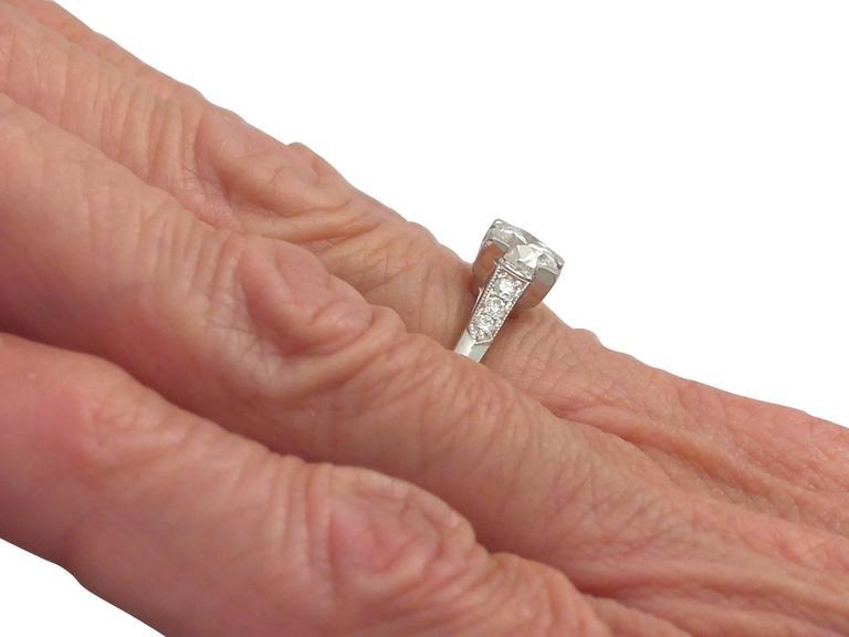 Contemporary 2000s 0.70 Carat Diamond and Platinum Solitaire Ring 8