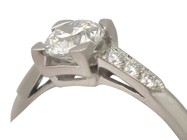 Contemporary 2000s 0.70 Carat Diamond and Platinum Solitaire Ring 3
