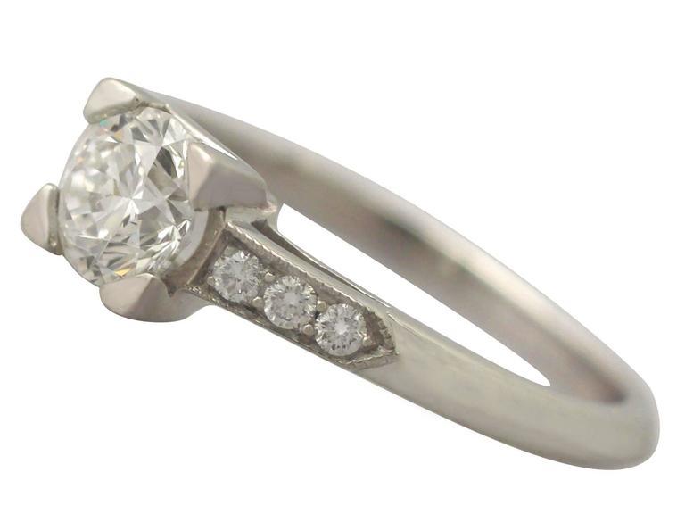 Contemporary 2000s 0.70 Carat Diamond and Platinum Solitaire Ring 4