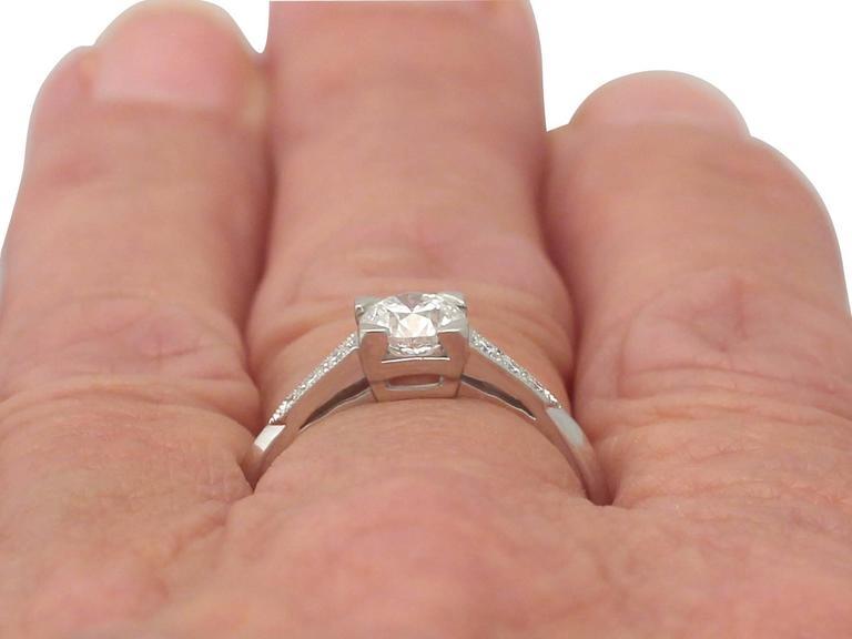 Contemporary 2000s 0.70 Carat Diamond and Platinum Solitaire Ring 9