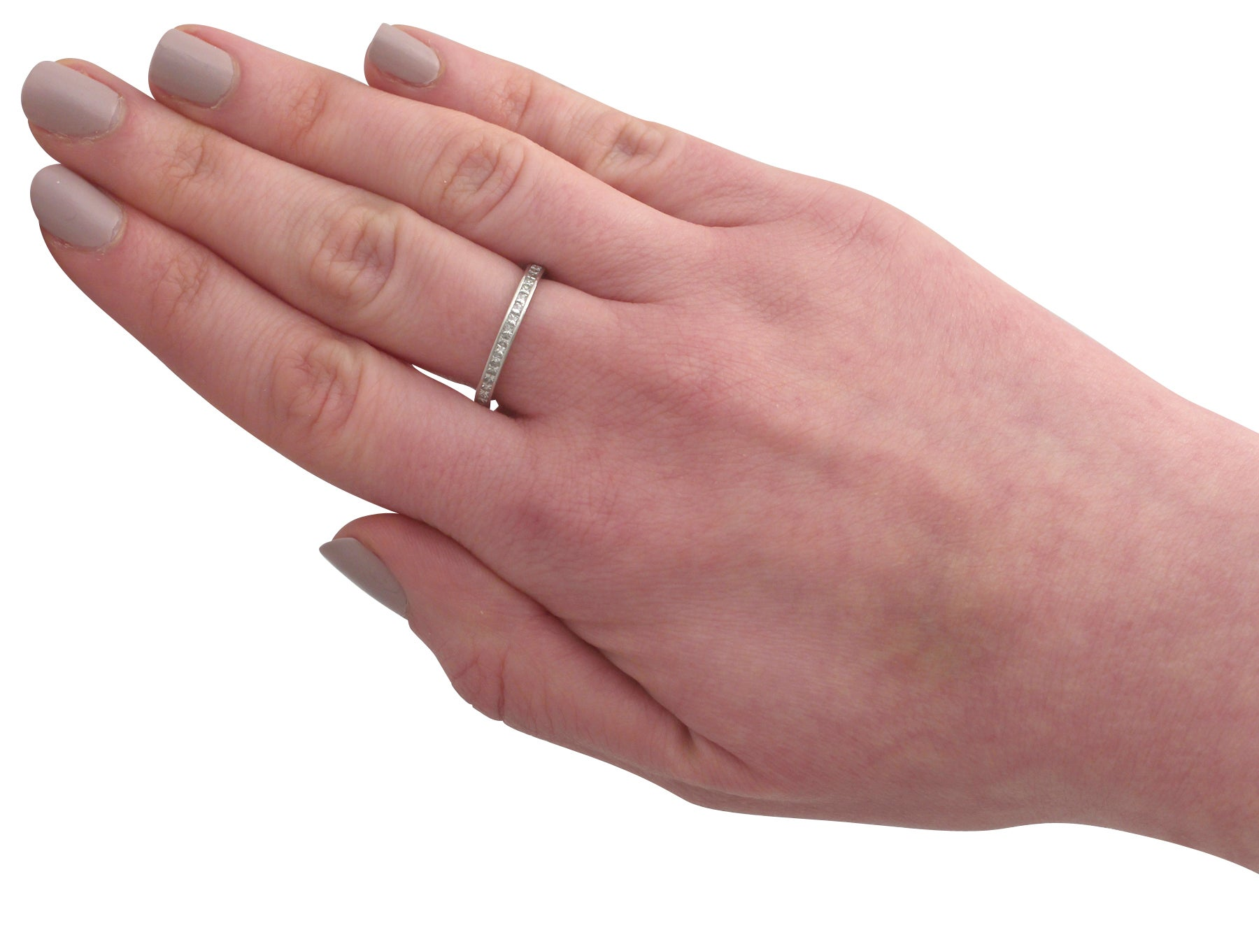 1960s Diamond and Platinum Full Eternity Ring For Sale at 1stdibs