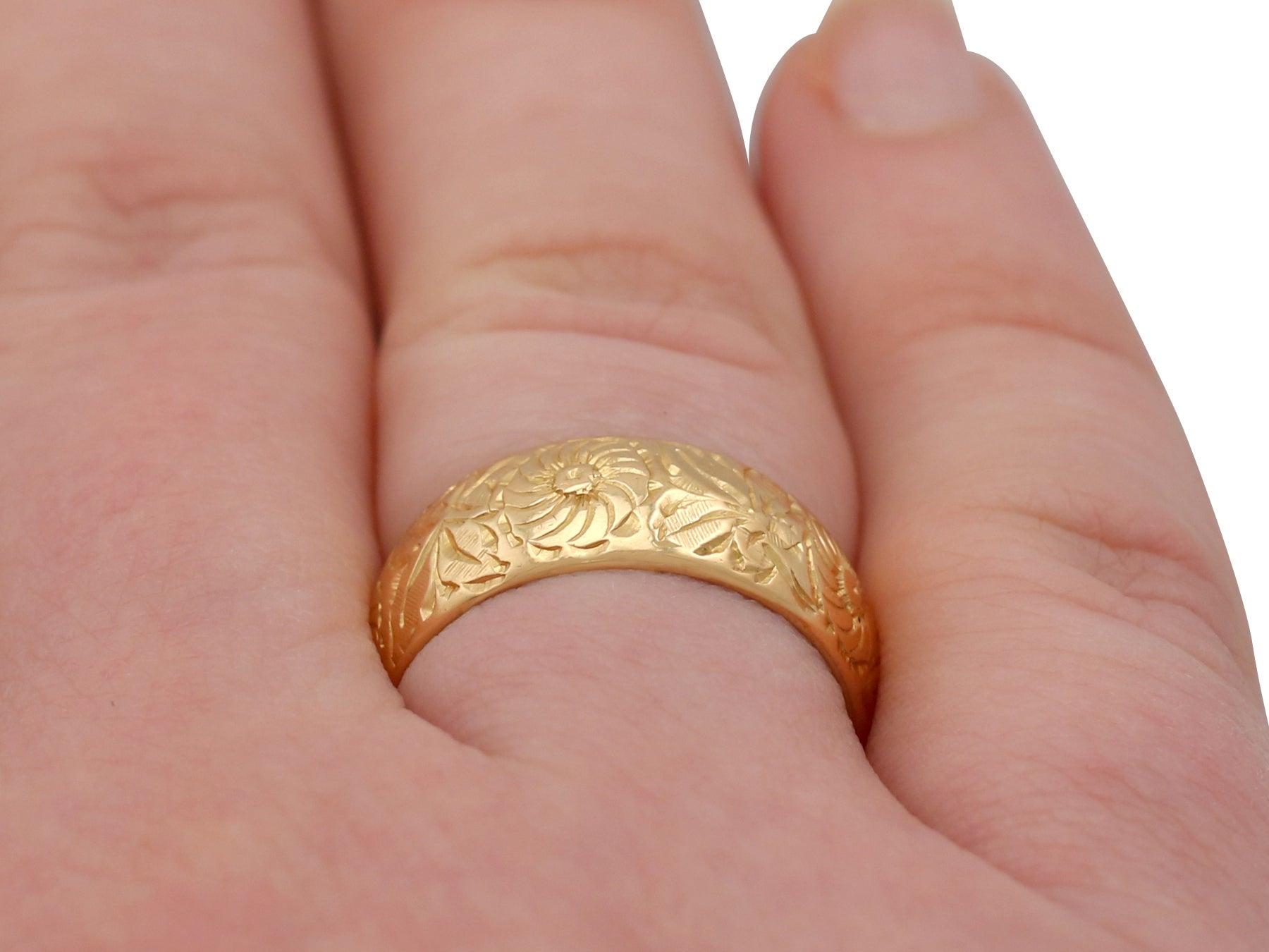 1960s Yellow Gold Wedding Band Ring at 1stdibs