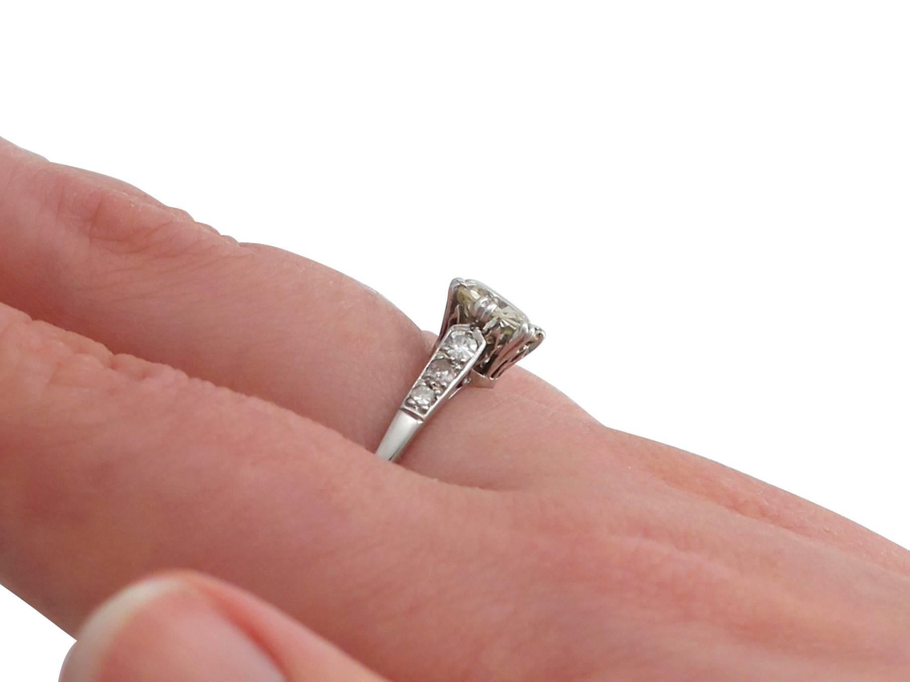 1930s 1.14 Carat Diamond and Platinum Solitaire Engagement Ring at ...