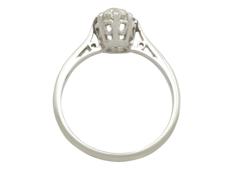 1920s white gold platinum set engagement ring for