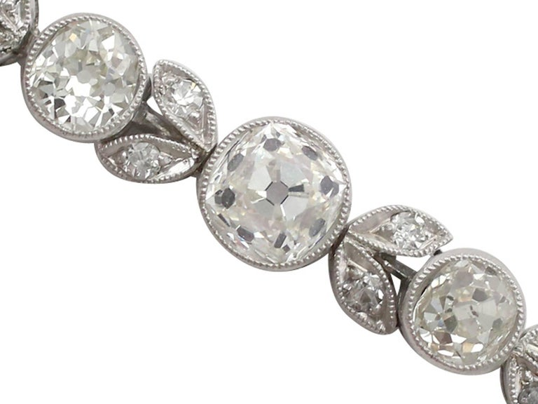Women's 1930s 3.20 Carat Diamond and White Gold, Platinum Bracelet For Sale