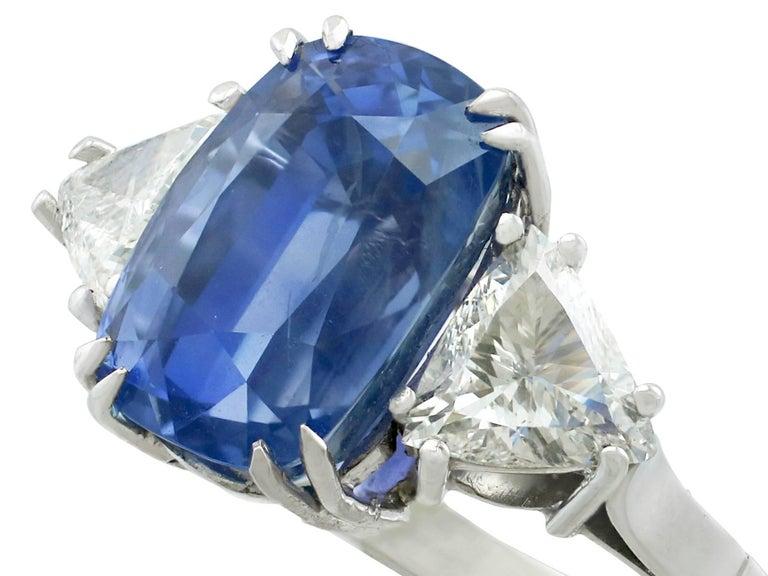 1990s Ceylon Sapphire and Diamond White Gold Dress Ring 3