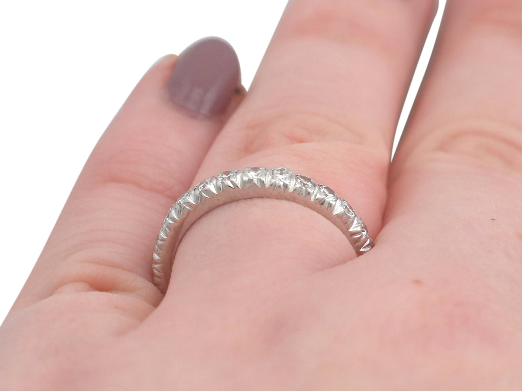 1950 Diamond and White Gold Full Eternity Ring For Sale at 1stdibs