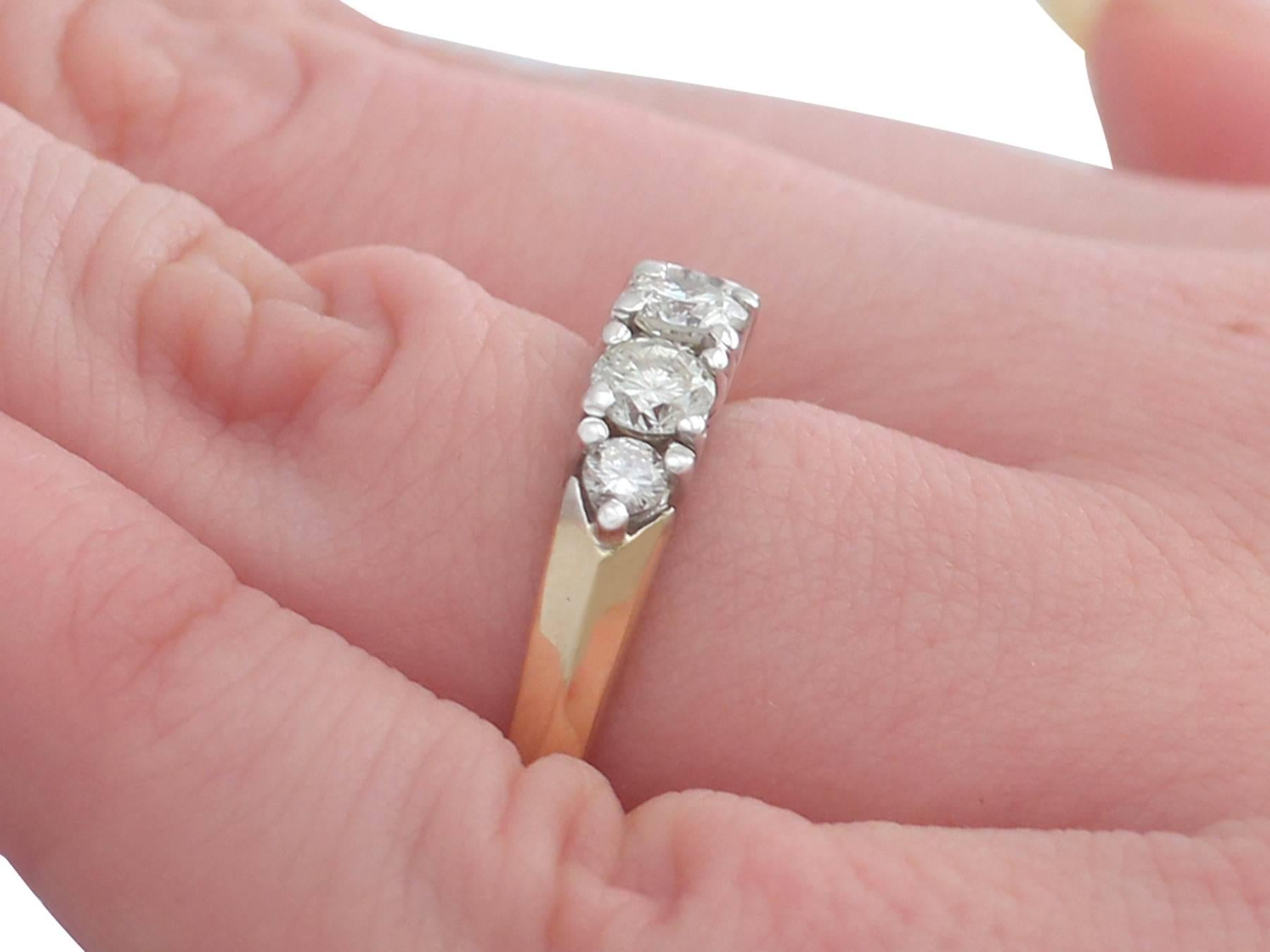 1960s Diamond Yellow Gold Dress Ring For Sale at 1stdibs