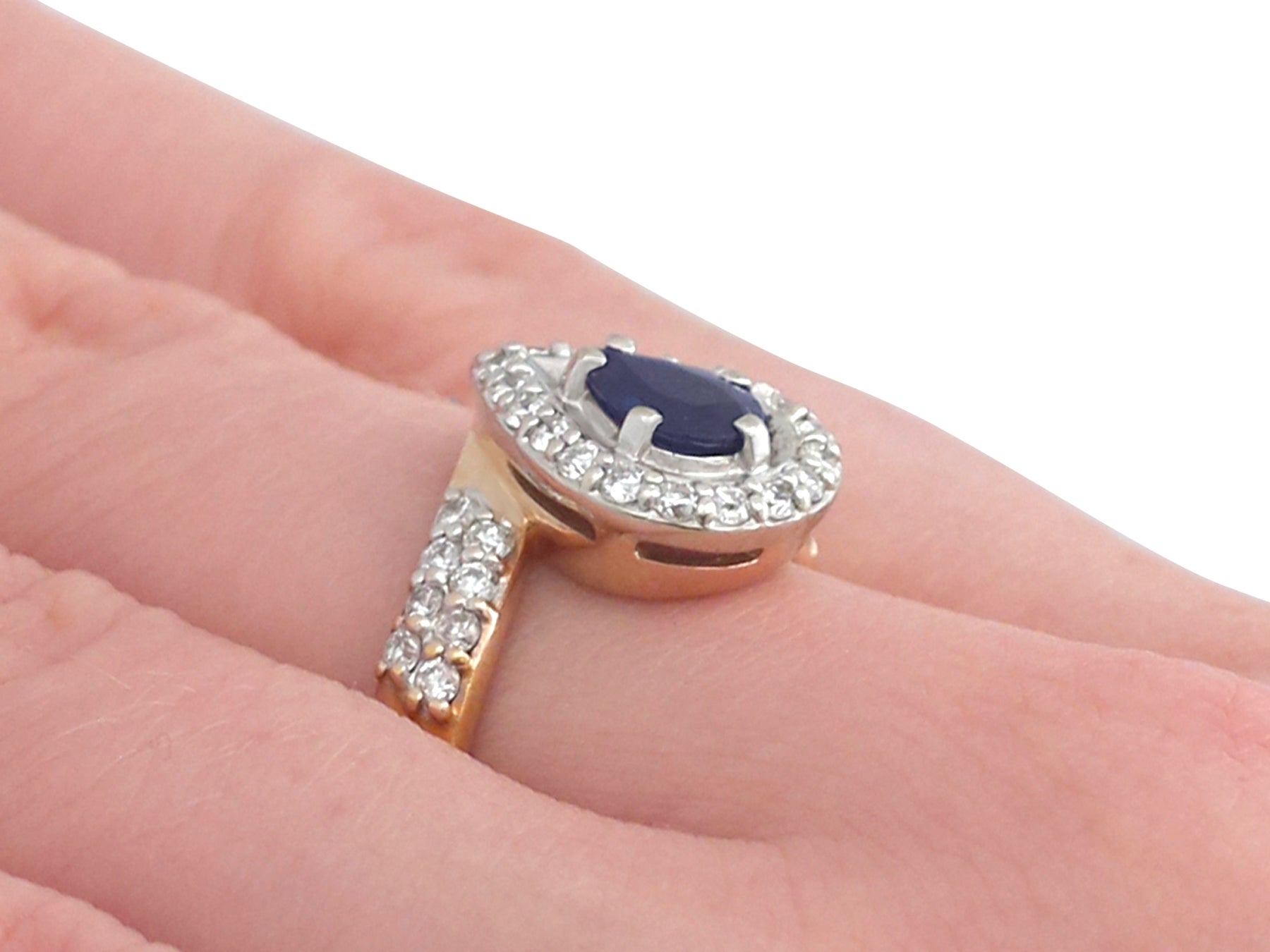 Contemporary Russian Sapphire and Diamond Yellow Gold Dress Ring For ...