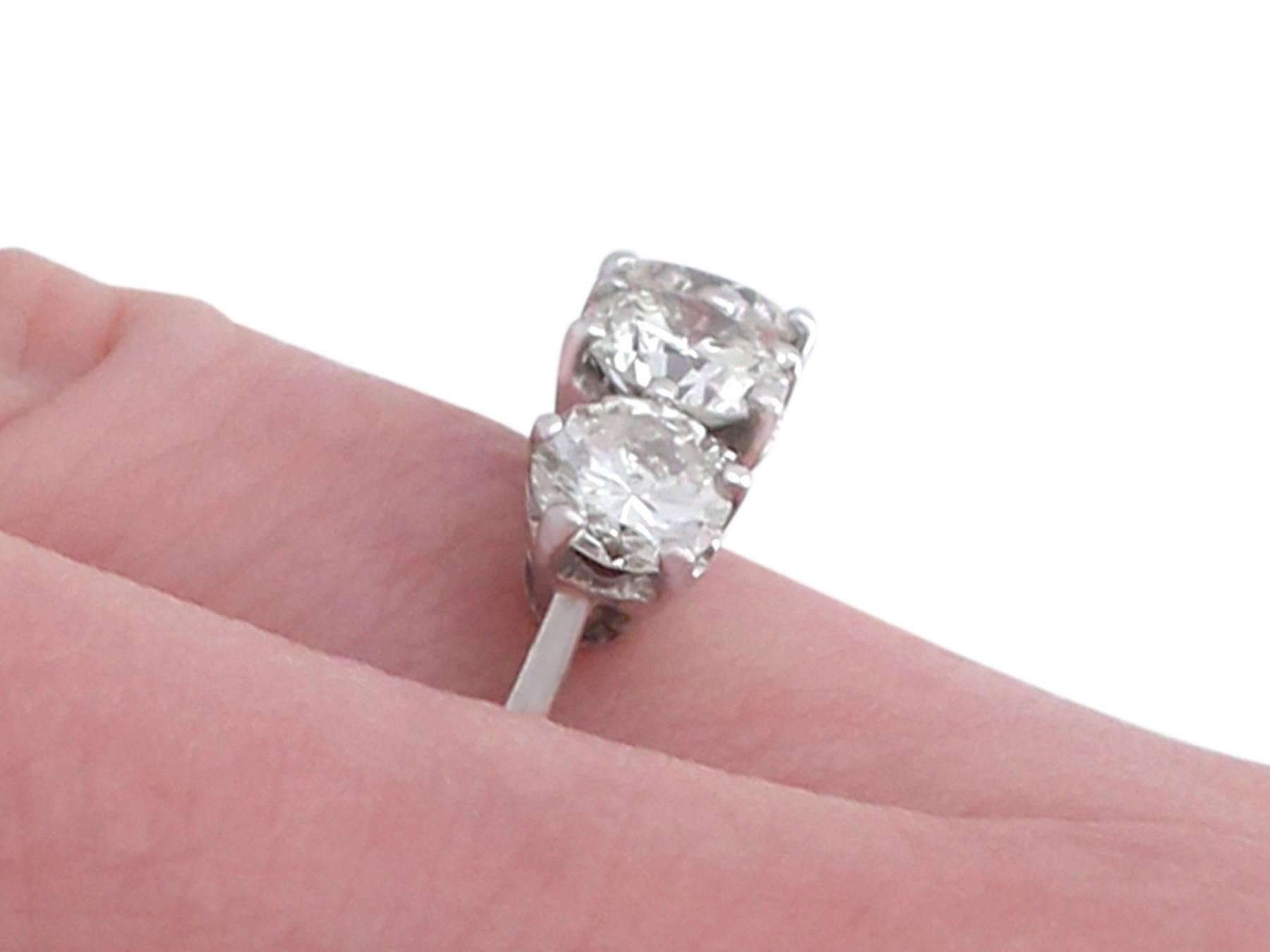1970s Diamond White Gold Trilogy Ring at 1stdibs