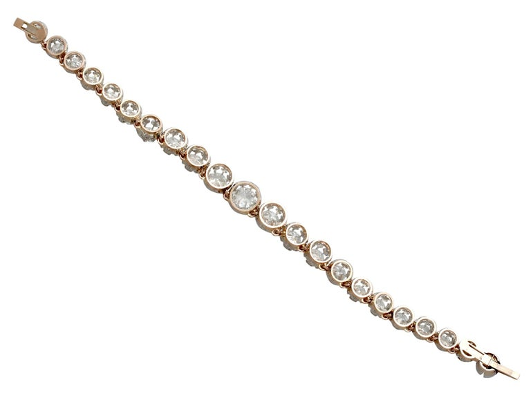 Antique French 11.12 Carat Diamond Yellow Gold, Platinum Set Necklace For Sale 8