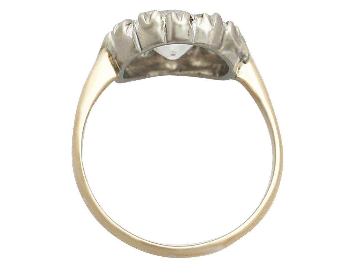 Women's Victorian 1.63 Carat Diamond Gold Platinum Cluster Ring For Sale