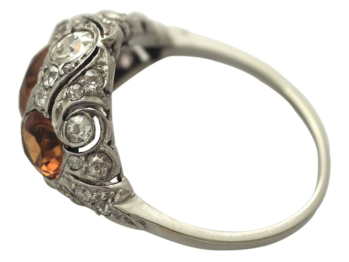 1910s antique 2 55 carat citrine and white gold