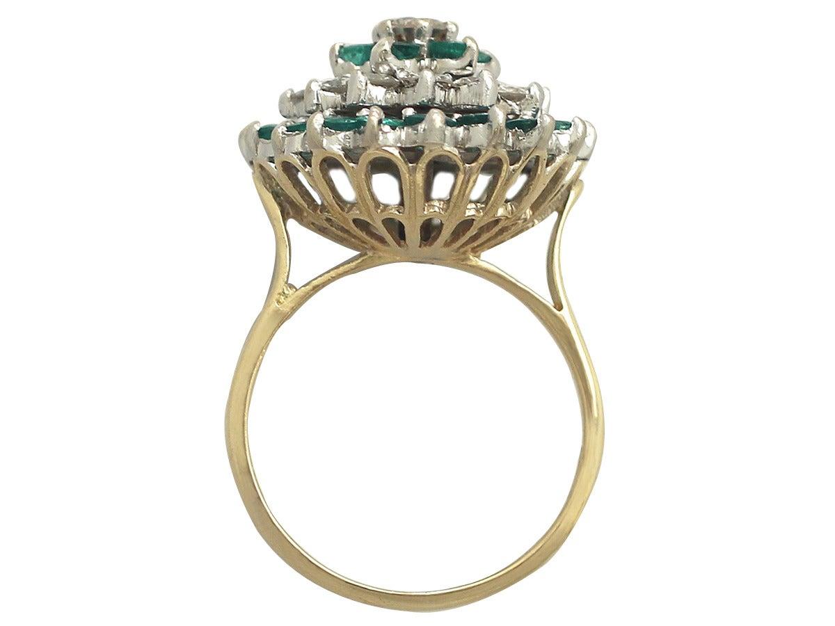 1.86Ct Diamond and 1.70Ct Emerald, 18k Yellow Gold ...