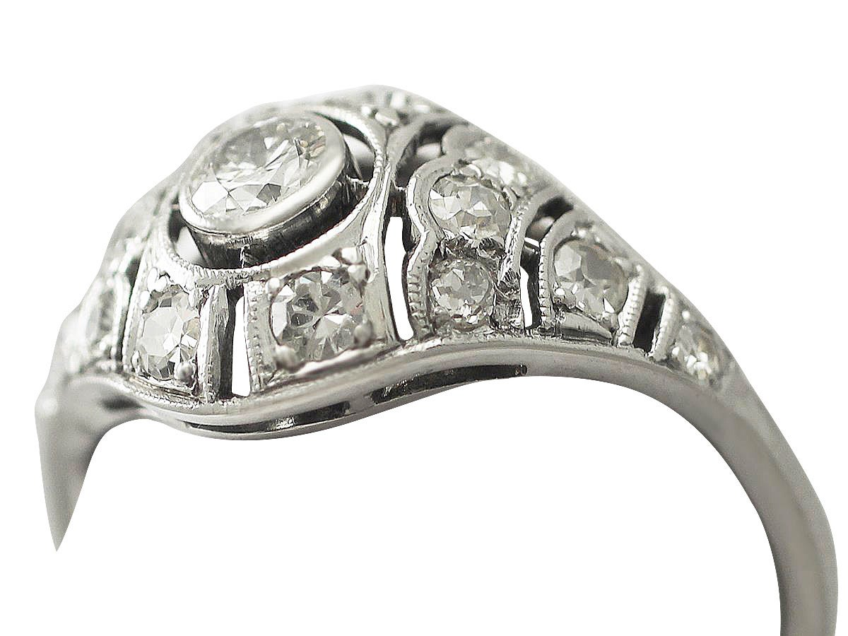 0 68ct and 18k white gold dress ring antique