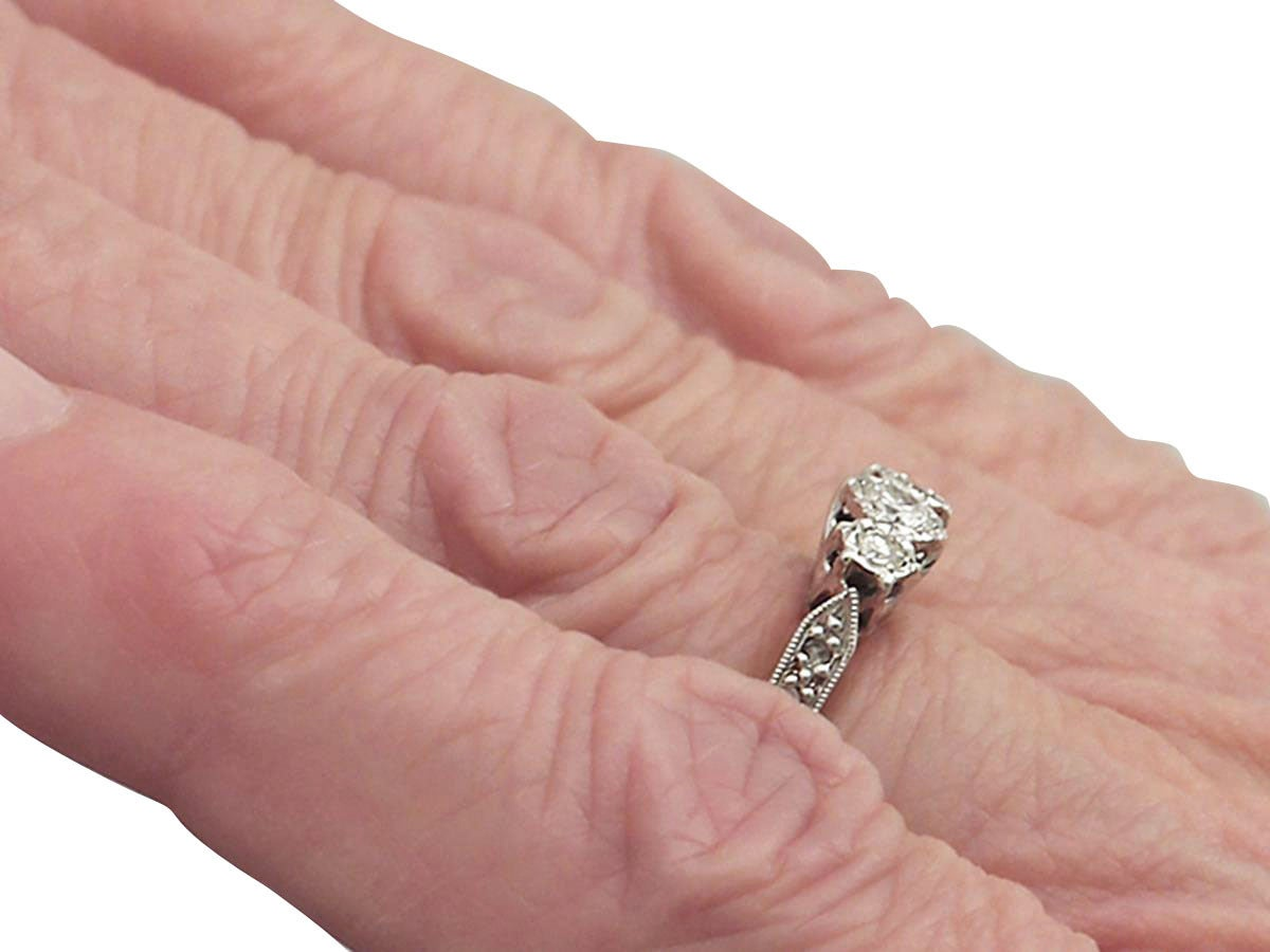1940s 0.41 Carat Diamond and 18k Yellow Gold Trilogy Ring For Sale ...