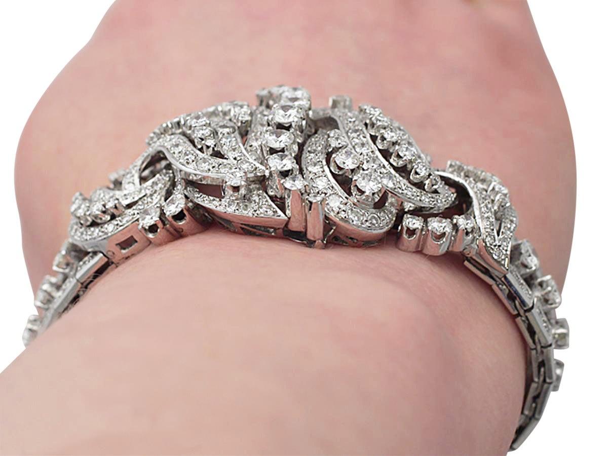 1950s 10.56 Carat Diamond Gold Bracelet at 1stdibs