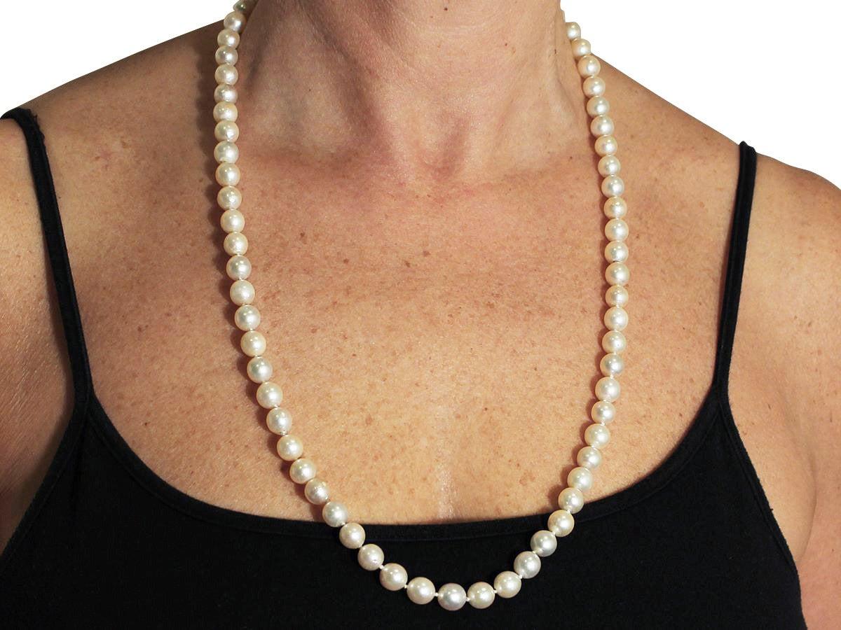 Single Strand Pearl an...