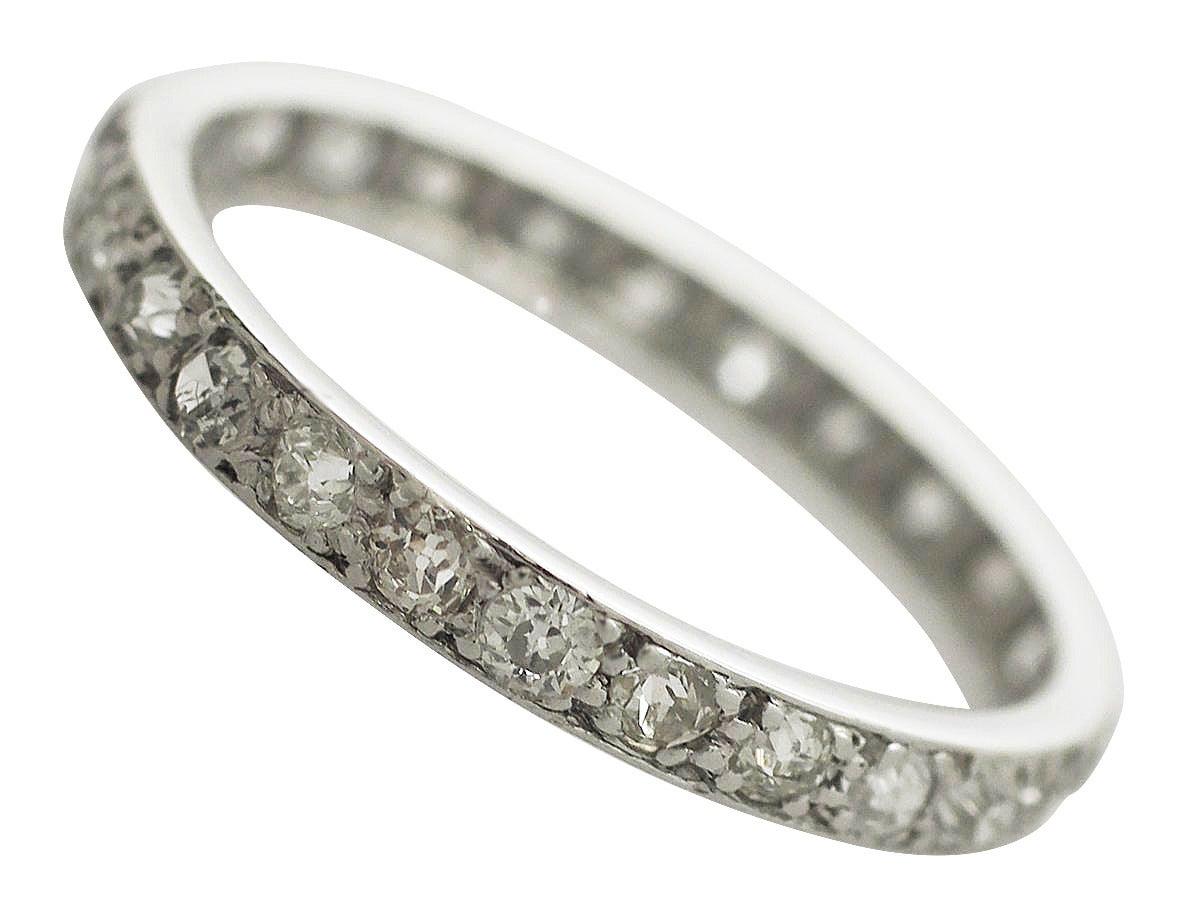 0 82ct and platinum eternity ring antique