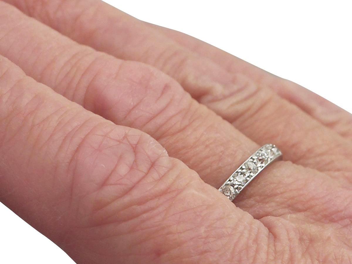 0.82Ct Diamond and Platinum Full Eternity Ring - Antique Circa 1930 ...