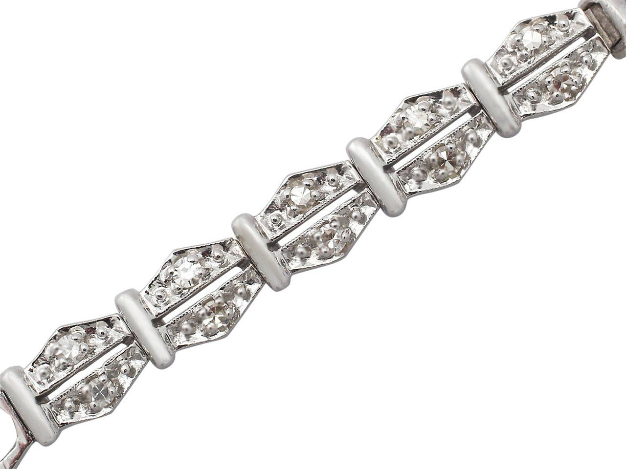 1950s 2.26 carat Diamond Platinum and White Gold Longines Cocktail Watch 5