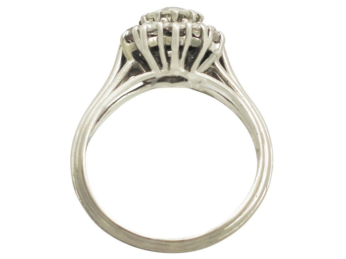 1 88 ct and platinum cluster ring deco style