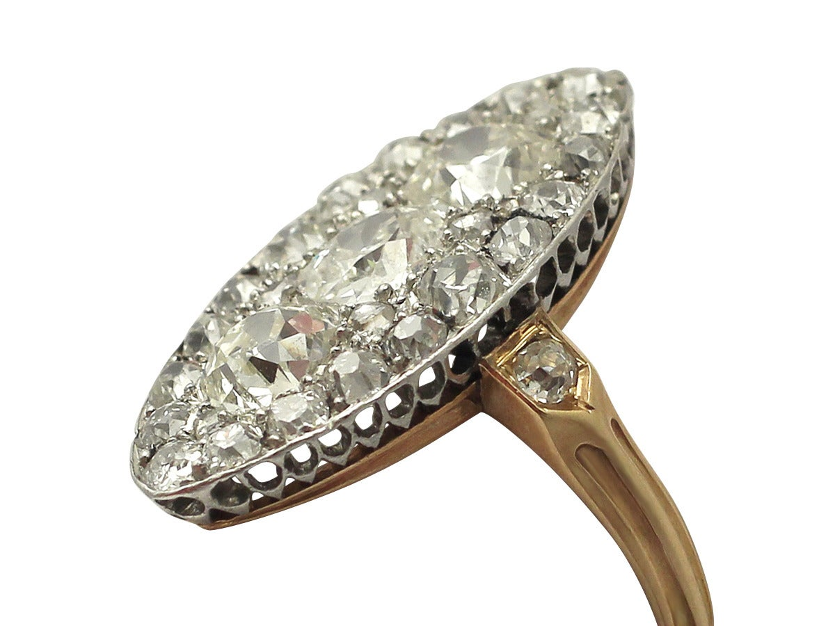 2 53ct and 18k yellow gold dress ring antique