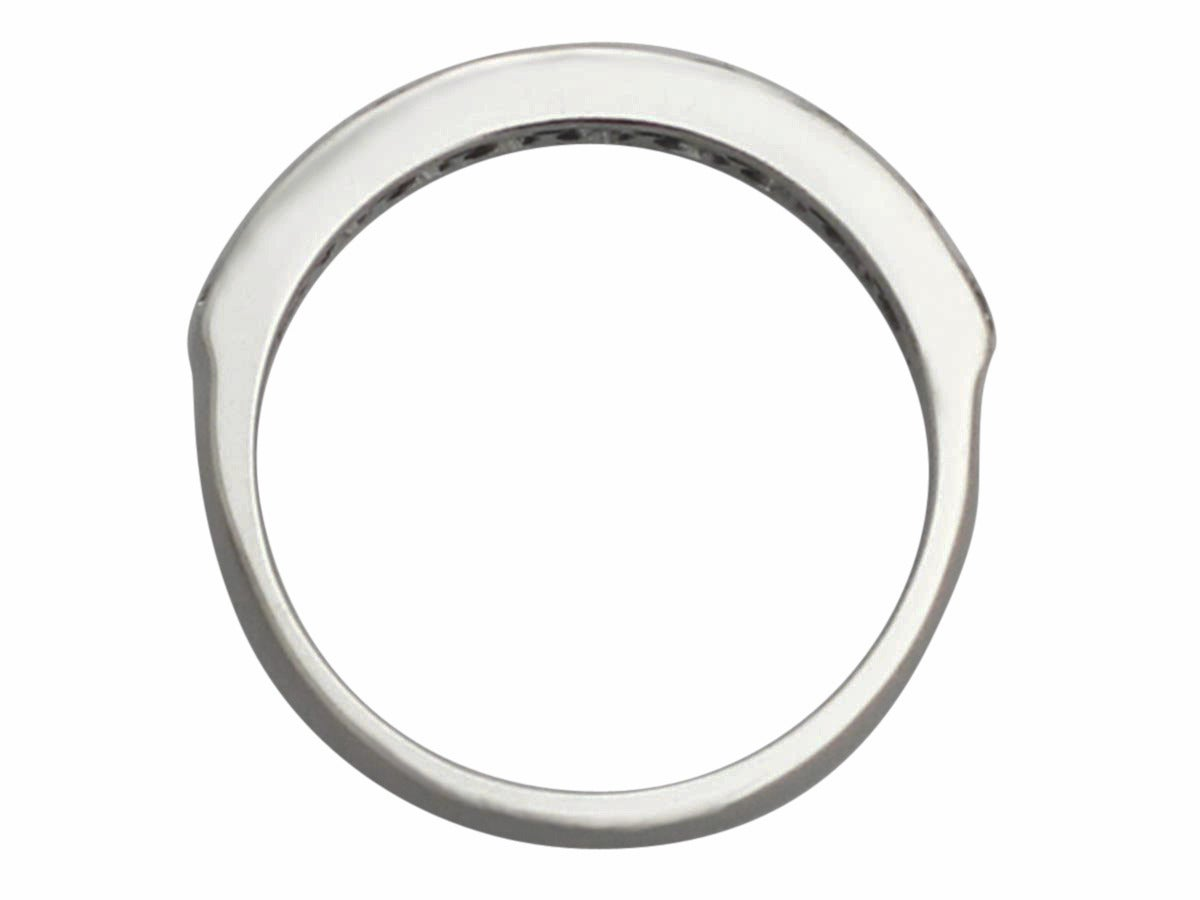 0 54ct and platinum half eternity ring vintage