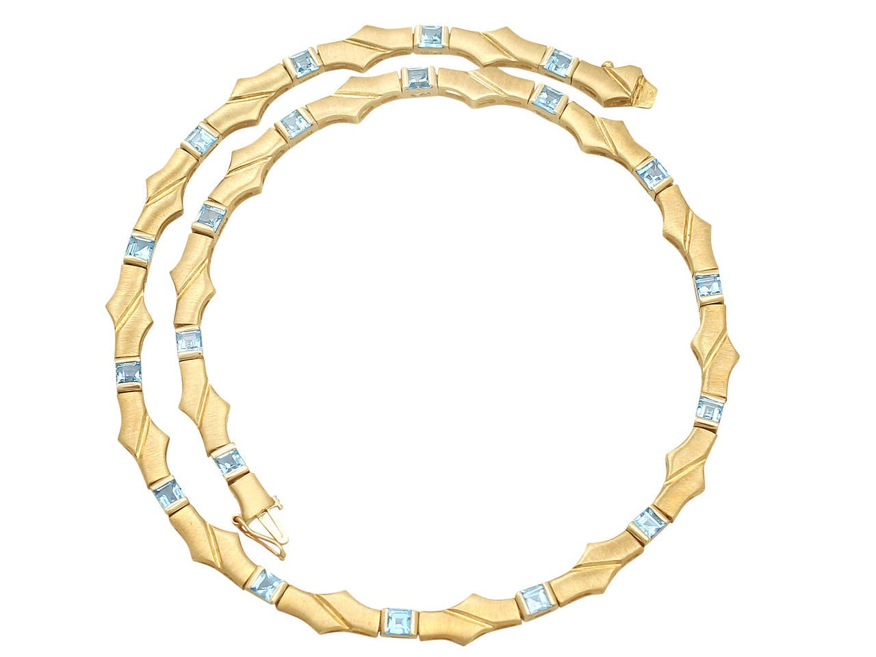 Topaz and 9k Yellow Gold Necklace - Vintage Circa 1960 For Sale at ...