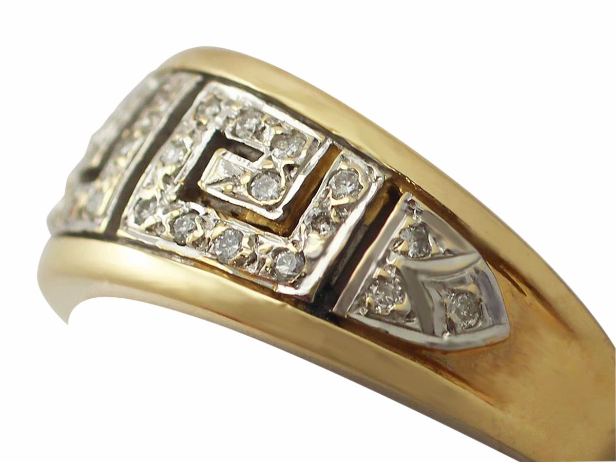 and yellow gold white gold set cocktail ring for