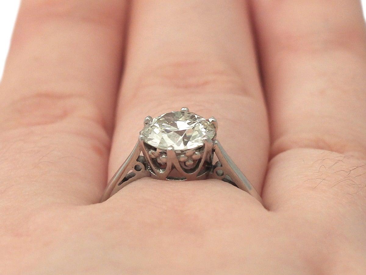 1940s 2 24 Carat Diamond And Contemporary Platinum