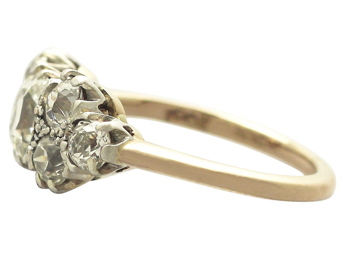 2 91 ct 18 ct yellow gold dress ring antique