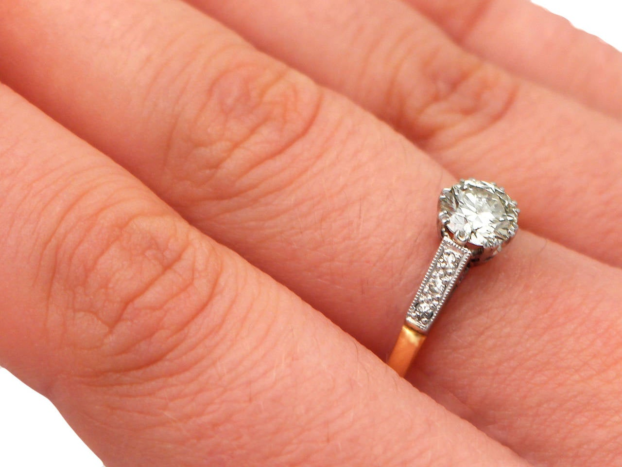 engagement jenny gold diamond single claw carat stone p white packham ring rings