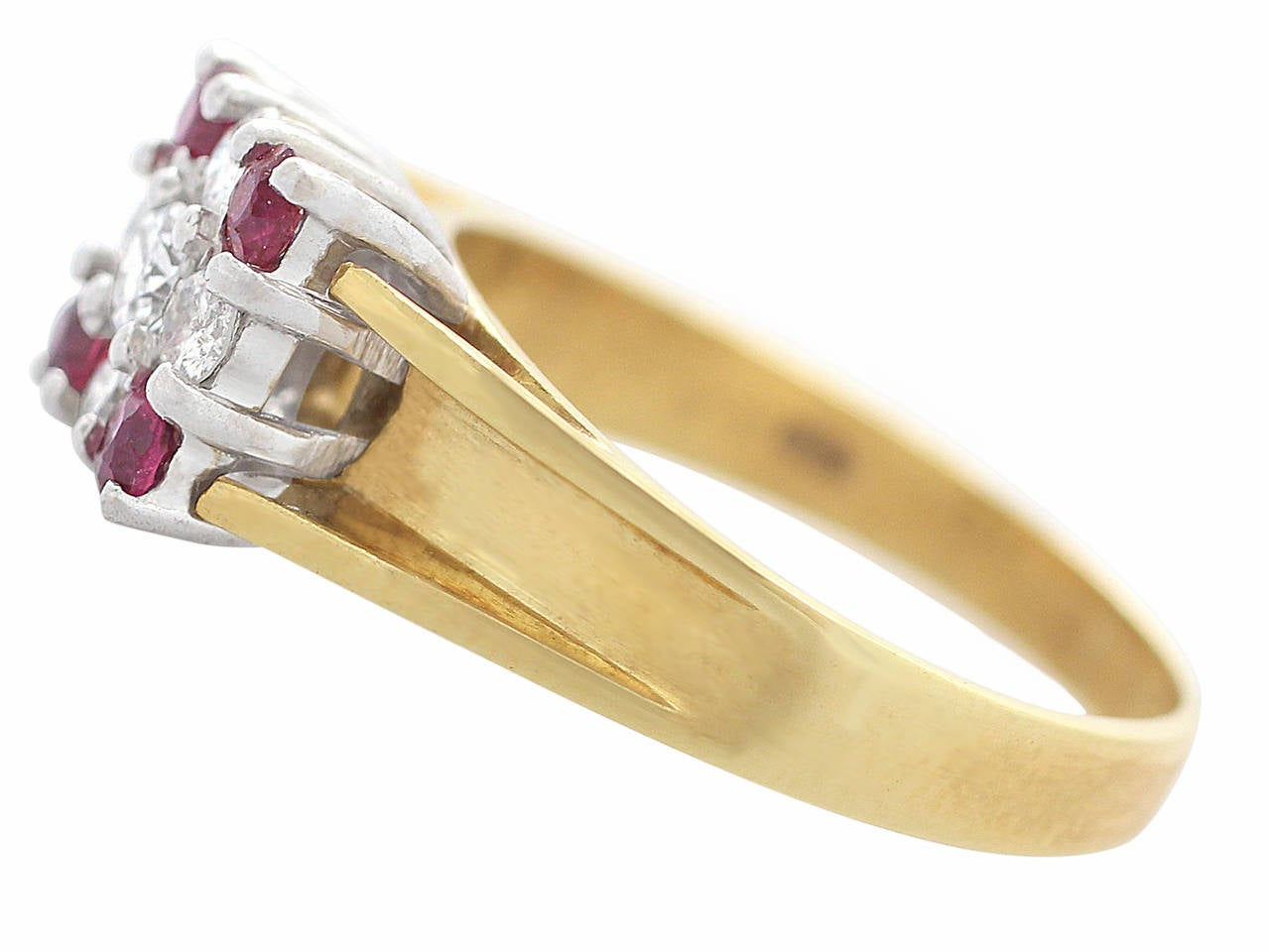 Ruby & Diamond Yellow Gold Cocktail Ring 4