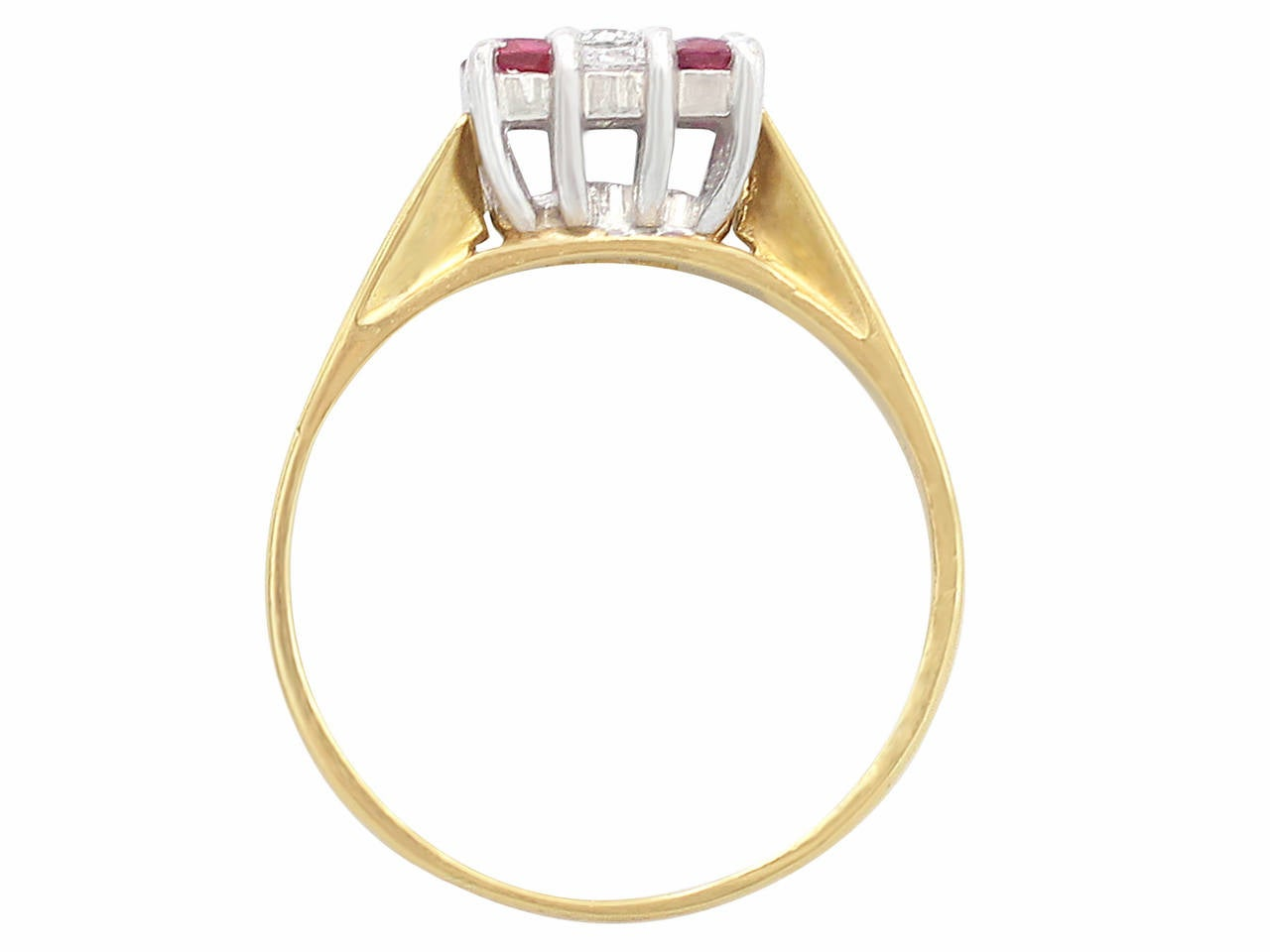 Ruby & Diamond Yellow Gold Cocktail Ring 5