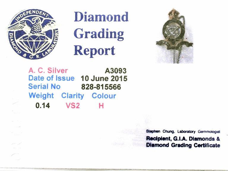 0.14Ct Diamond & Enamel, 18k Yellow Gold Regimental Pin Brooch - Vintage For Sale 3