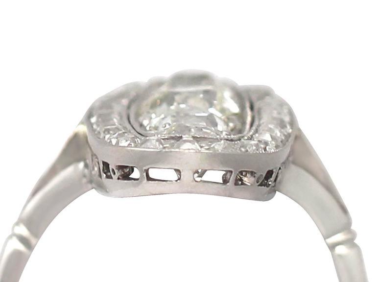 Antique 3.24 Carat Diamond & Palladium Cocktail Ring 4