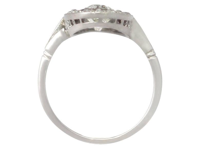 Antique 3.24 Carat Diamond & Palladium Cocktail Ring 5