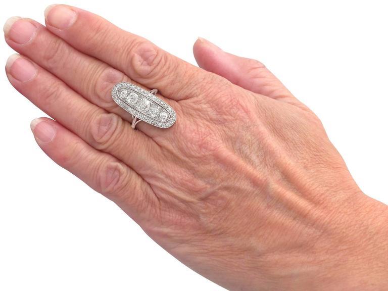 Antique 3.24 Carat Diamond & Palladium Cocktail Ring 7