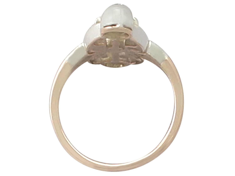 0 40Ct Diamond and 12k Rose Gold Silver Set Dress Ring Antique Circa 1880
