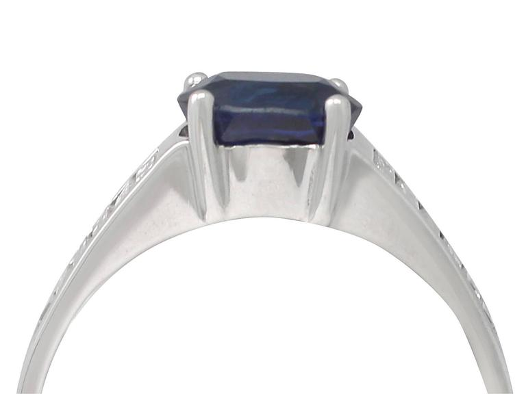 1990s 1.20Carat Sapphire & Diamond White Gold Cocktail Ring 2