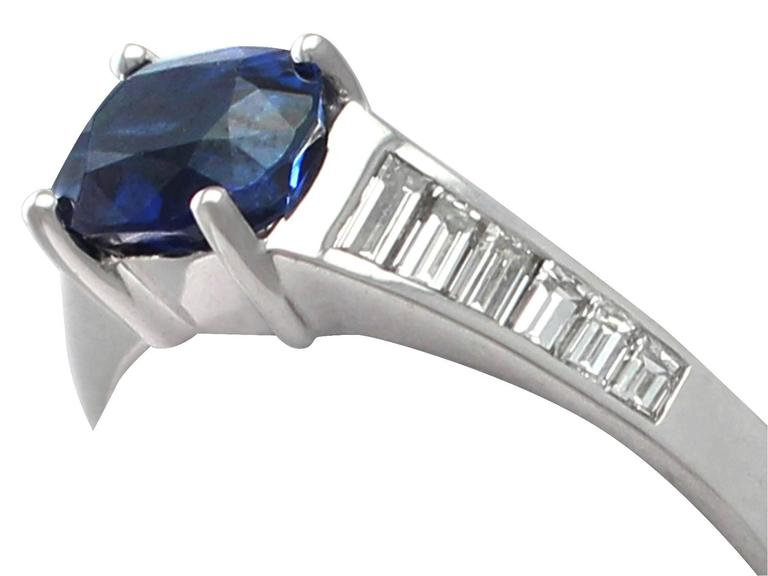 1990s 1.20Carat Sapphire & Diamond White Gold Cocktail Ring 3