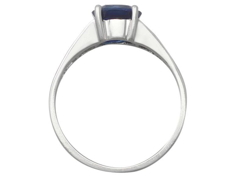 1990s 1.20Carat Sapphire & Diamond White Gold Cocktail Ring 5