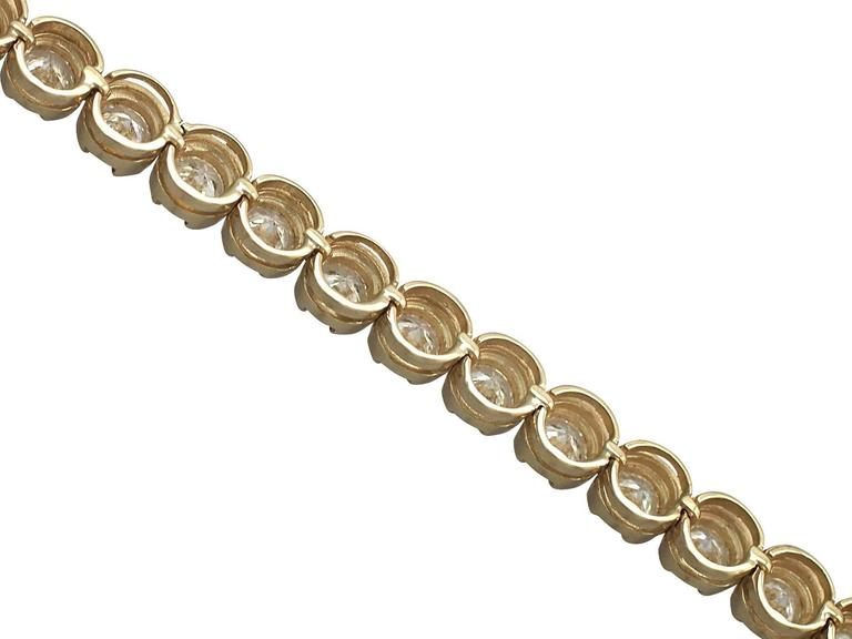 8 50ct Diamond 18k Yellow Gold Tennis Bracelet