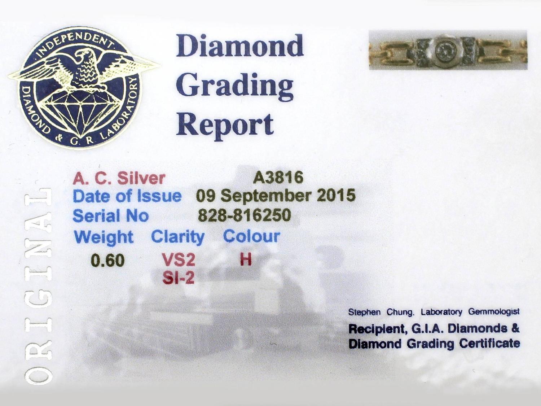 0.60 Ct Diamond and 18k Yellow Gold, 18k White Gold Set ...