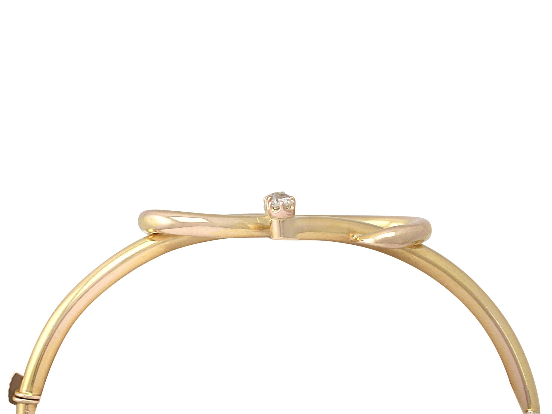 2f8eb4ca3b7f 0.15Ct Diamond and 18k Yellow Gold Bangle - Antique Victorian For Sale at  1stdibs
