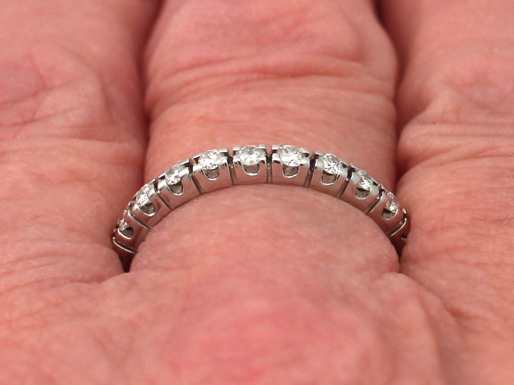 1960s Diamond and White Gold Full Eternity Ring For Sale at 1stdibs
