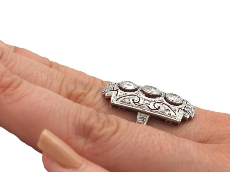 0.88Ct Diamond and 14k Yellow Gold Dress Ring - Art Deco - Antique Circa 1920 For Sale 4