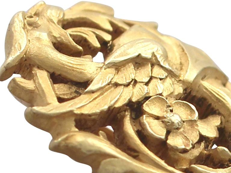 18k Yellow Gold Pin Brooch - Antique French Circa 1890 3